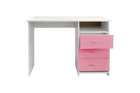Psací stůl 44 růžová/bílá Pracovna - Psací a PC stoly