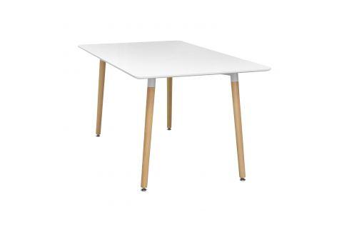 Jídelní stůl 140x90 UNO bílý Pokoj a jídelna - Stoly a stolky - Jídelní stoly