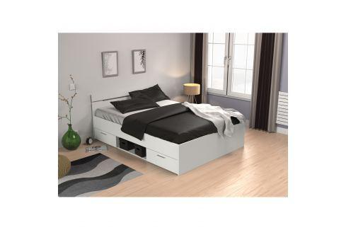 Multifunkční postel 140x200 MICHIGAN perleťově bílá Ložnice - Postele