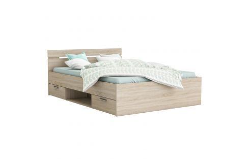 Multifunkční postel 140x200 MICHIGAN dub Ložnice - Postele
