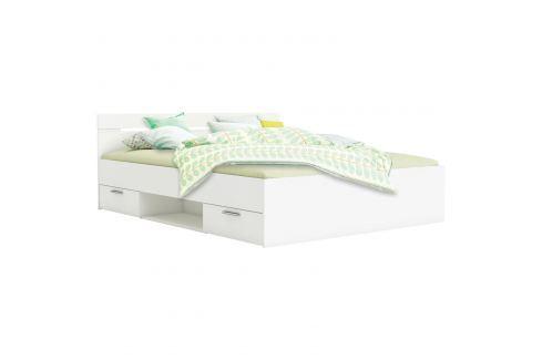 Multifunkční postel 160x200 MICHIGAN perleťově bílá Ložnice - Postele