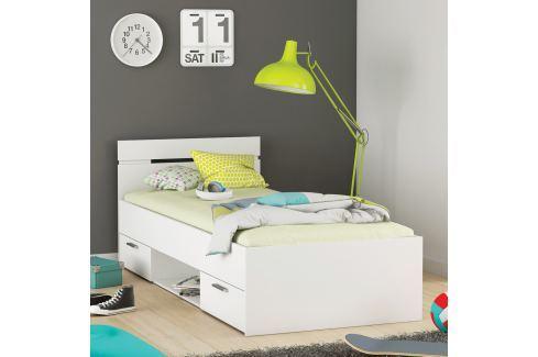 Multifunkční postel 90x200 MICHIGAN perleťově bílá Ložnice - Postele
