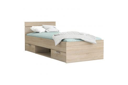 Multifunkční postel 90x200 MICHIGAN dub Ložnice - Postele