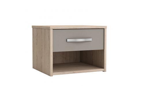 Noční stolek GRAPHIC dub/béžová Pokoj a jídelna - Stoly a stolky - Noční stolky