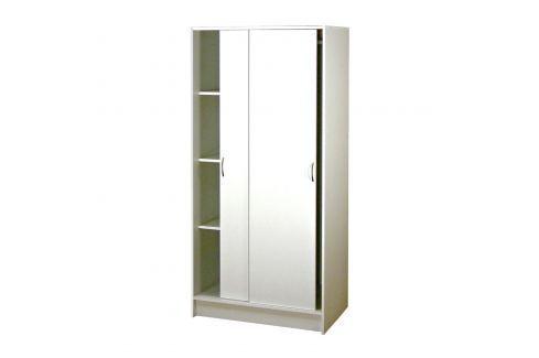 Skříň s posuvnými dveřmi 5223 bílá Skříně a skříňky