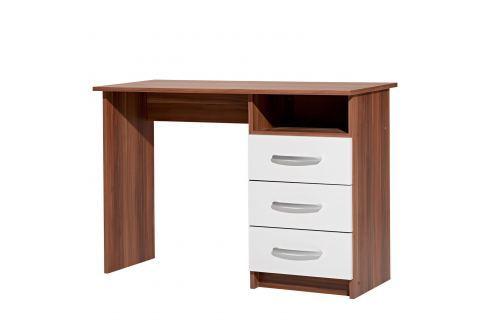 Psací stůl 60044 ořech/bílá Pracovna - Psací a PC stoly