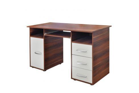Psací stůl 60194 ořech/bílá Pracovna - Psací a PC stoly