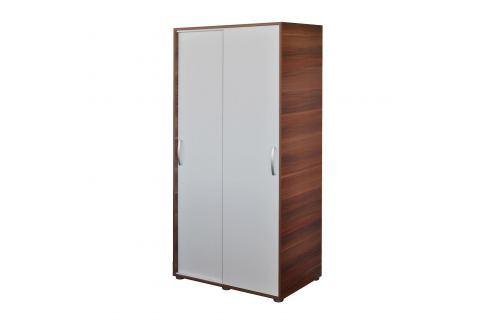 Skříň s posuvnými dveřmi 65641 ořech/bílá Skříně a skříňky