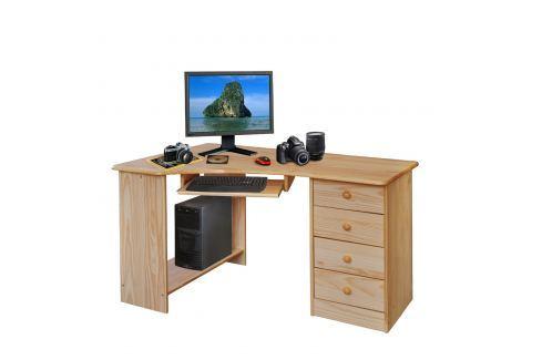 PC stůl rohový 8846 lakovaný Pracovna - Psací a PC stoly