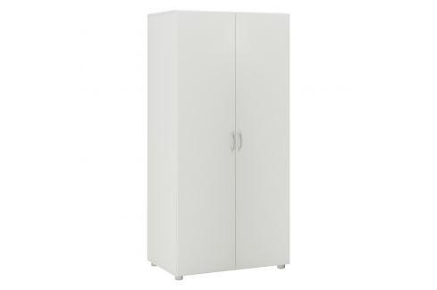 Skříň 2dveřová BEST bílá Úložné prostory - Skříně