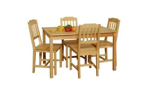 Stůl + 4 židle 8849 lak Pokoj a jídelna - Stoly a stolky - Jídelní stoly