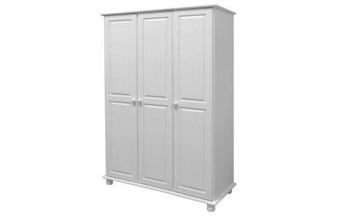 Skříň 3dveřová 8863B bílý lak Skříně a skříňky