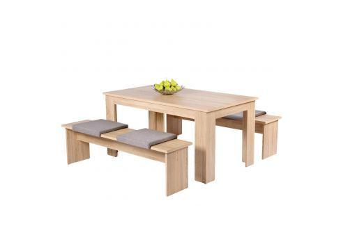 Jídelní sestava MUNCHEN 140 dub Pokoj a jídelna - Stoly a stolky - Jídelní stoly