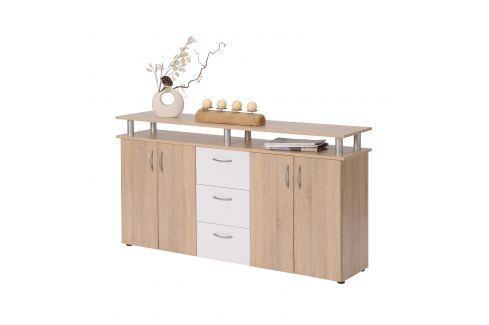Prádelník NEVADA dub/bílá Úložné prostory - Komody