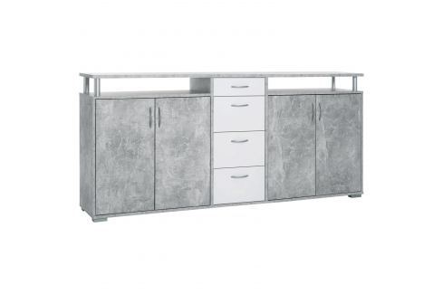 Komoda MAXIMO beton/bílá Úložné prostory - Komody
