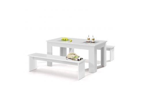 Jídelní sestava MUNCHEN 140 bílá Pokoj a jídelna - Stoly a stolky - Jídelní stoly