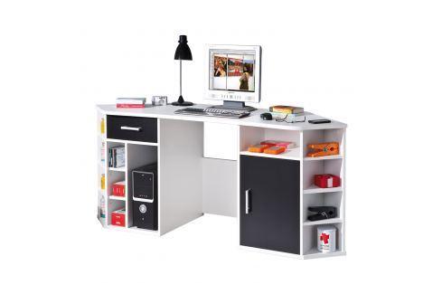 PC rohový stůl FABRI Pracovna - Psací a PC stoly