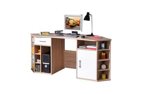 PC rohový stůl VASTO Pracovna - Psací a PC stoly