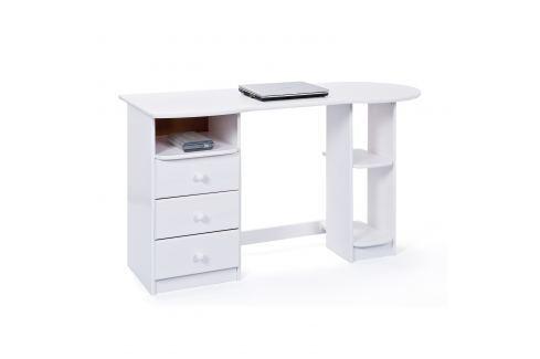 PC stůl TOUCHROUND bílý Pracovna - Psací a PC stoly