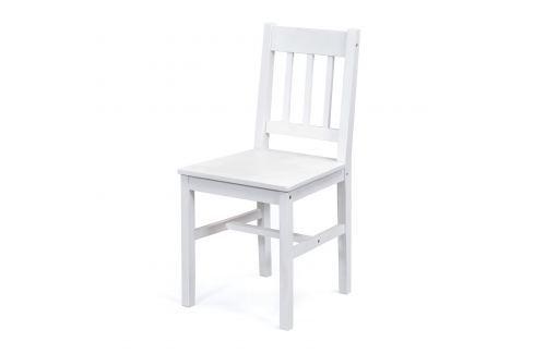 Jídelní židle PALMIRO bílý lak Pokoj a jídelna - Jídelní židle
