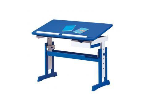 PACO psací stůl modro/bílý Pracovna - Psací a PC stoly