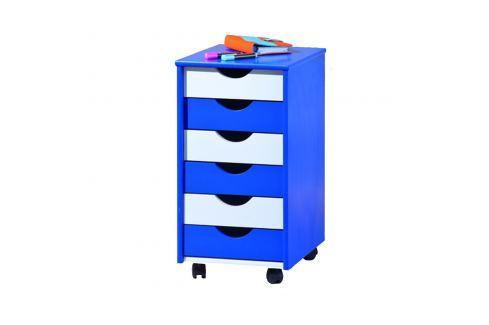 BEPPO kontejner modro/bílý Komody