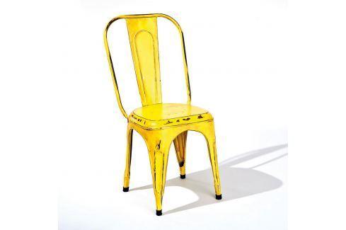 Židle AIX retro žlutá Pokoj a jídelna - Jídelní židle