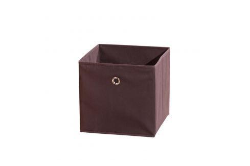 WINNY textilní box, hnědý Ložnice - Bytové doplňky
