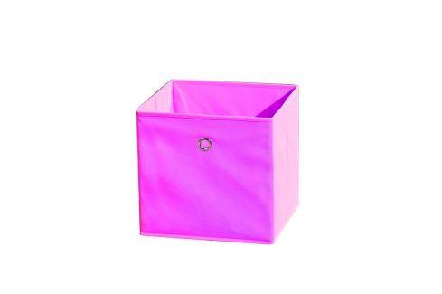 WINNY textilní box, růžový Ložnice - Bytové doplňky