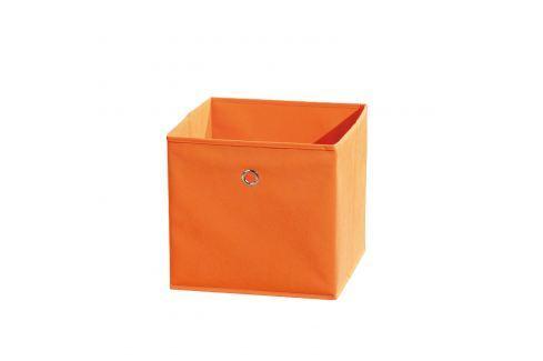WINNY textilní box, oranžový Ložnice - Bytové doplňky