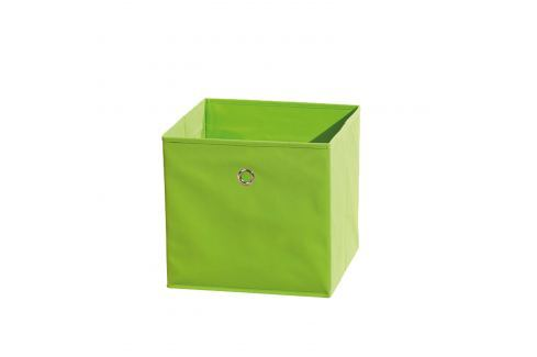 WINNY textilní box, zelený Ložnice - Bytové doplňky