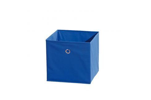 WINNY textilní box, modrý Ložnice - Bytové doplňky