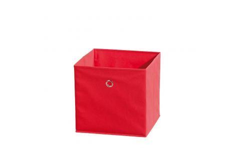 WINNY textilní box, červený Ložnice - Bytové doplňky