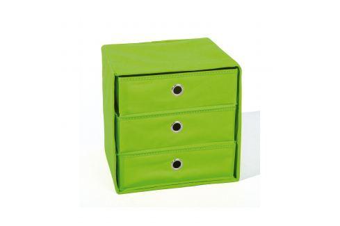 Skládací box WILLY zelený Úložné prostory - Nábytek do chodby