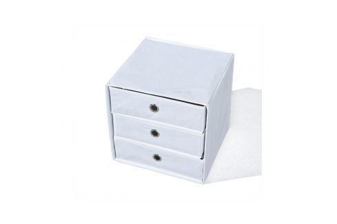 Skládací box WILLY bílý Úložné prostory - Nábytek do chodby