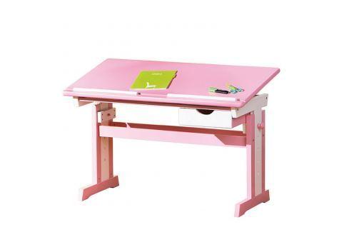 CECILIA psací stůl růžovo/bílý Pracovna - Psací a PC stoly