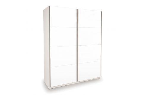 Skříň s posuvnými dveřmi DECOR 150 bílá Úložné prostory - Skříně