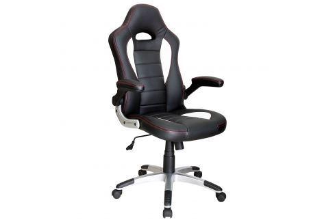 Kancelářské křeslo RACER černá/bílá Pracovna - Kancelářské židle
