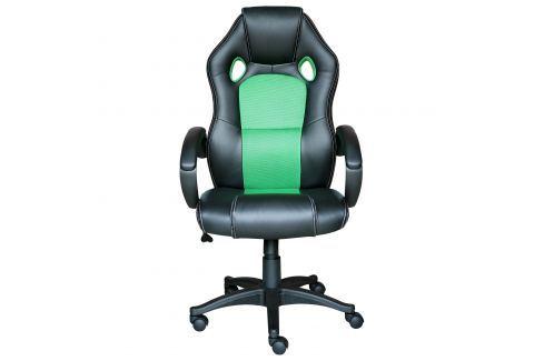 Kancelářské křeslo FORMULA černá/zelená Pracovna - Kancelářské židle