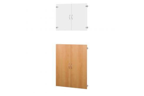Skleněné a dřevěné dveře 30A buk Knihovny, regály, police