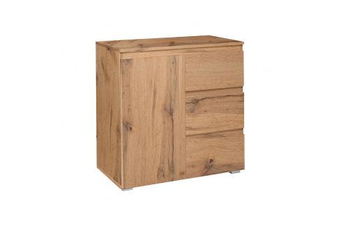 Komoda 1 dveře + 3 zásuvky IMAGE 2 zlatý dub Úložné prostory - Komody