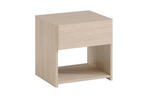 Noční stolek PLEASE dub Sesame Pokoj a jídelna - Stoly a stolky - Noční stolky