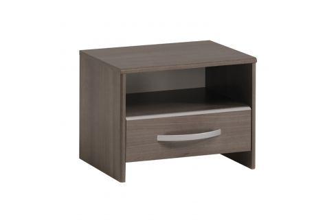 Noční stolek EVA stříbrný ořech Pokoj a jídelna - Stoly a stolky - Noční stolky