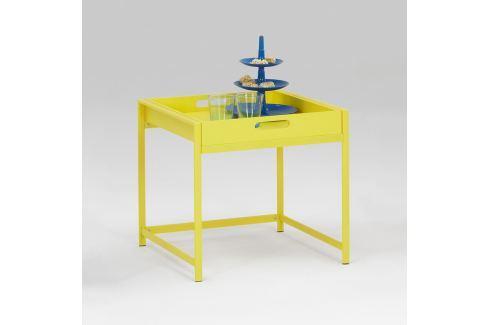 Servírovací stolek ANNIKA žlutý Pokoj a jídelna - Stoly a stolky - Jídelní stoly