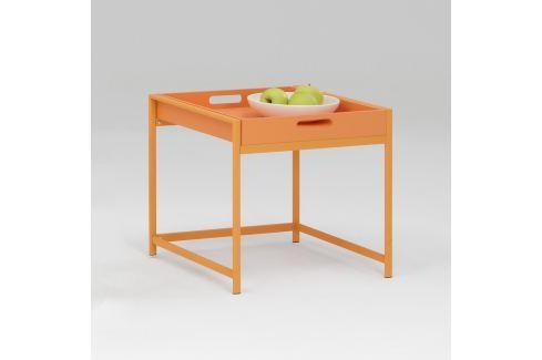 Servírovací stolek ANNIKA oranžový Pokoj a jídelna - Stoly a stolky - Jídelní stoly