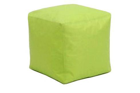 Sedací taburet CUBE světle zelený V21 Pohovky - Sedací vaky