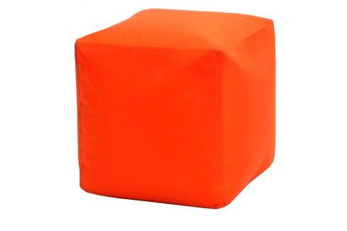 Sedací taburet CUBE oranžový V22 Pohovky - Sedací vaky