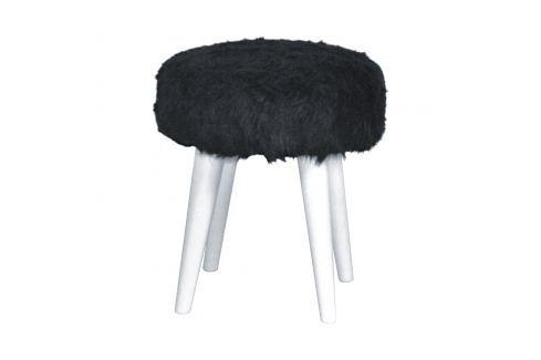 Stolička kožešina imitace Ložnice - Bytové doplňky