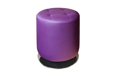 Stolička kulatá fialová Ložnice - Bytové doplňky