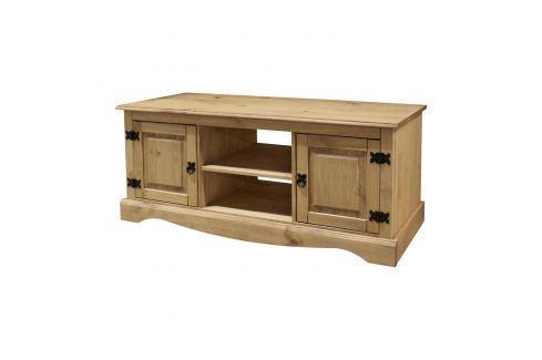 TV stolek 2 dveře CORONA vosk Pokoj a jídelna - Stoly a stolky - TV stoly